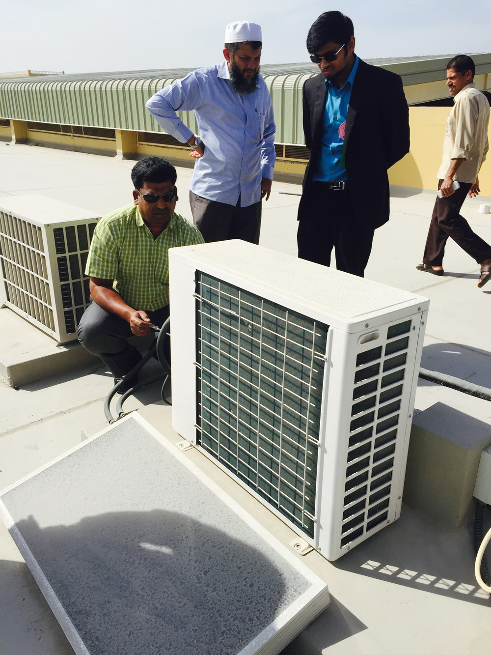 Mr Cool Solar air conditioner project in UAE