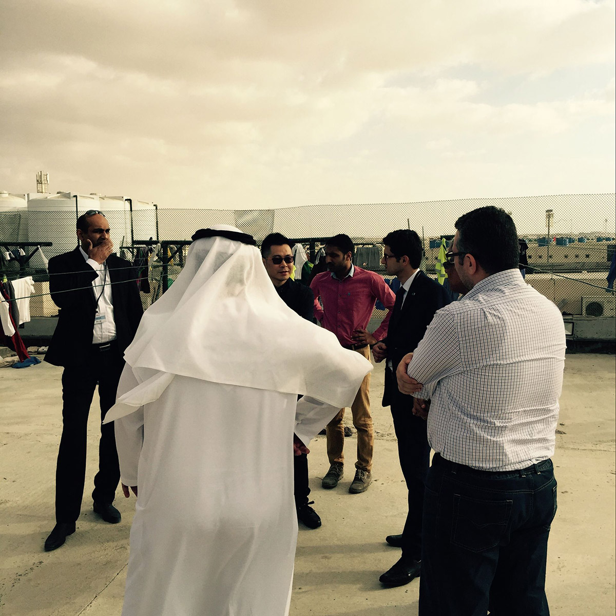 Mr Cool Solar Air Conditioner installed at labour camp in UAE