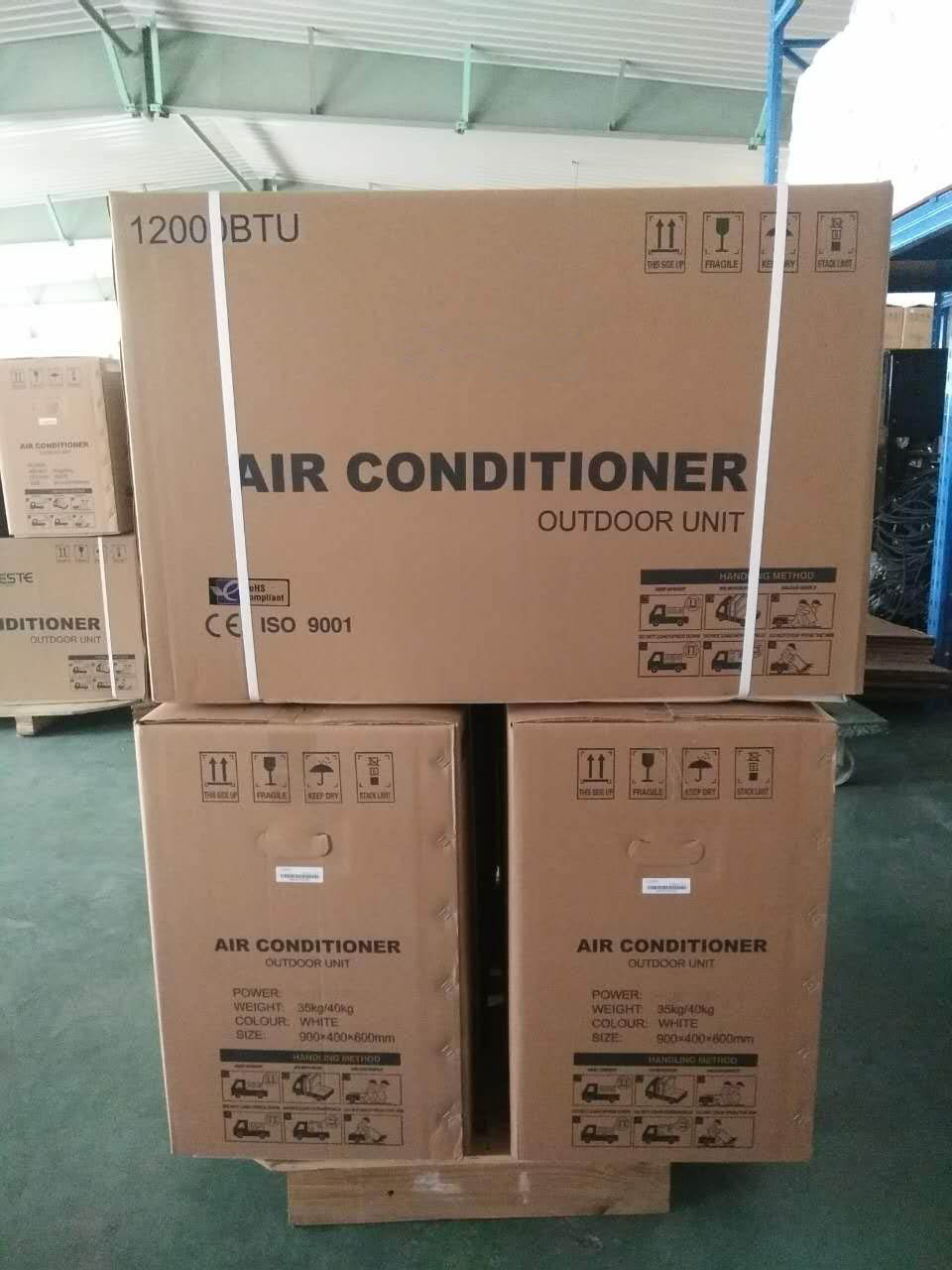 Mr Cool On Grid Hybrid Solar Air Conditioner ready for shipping